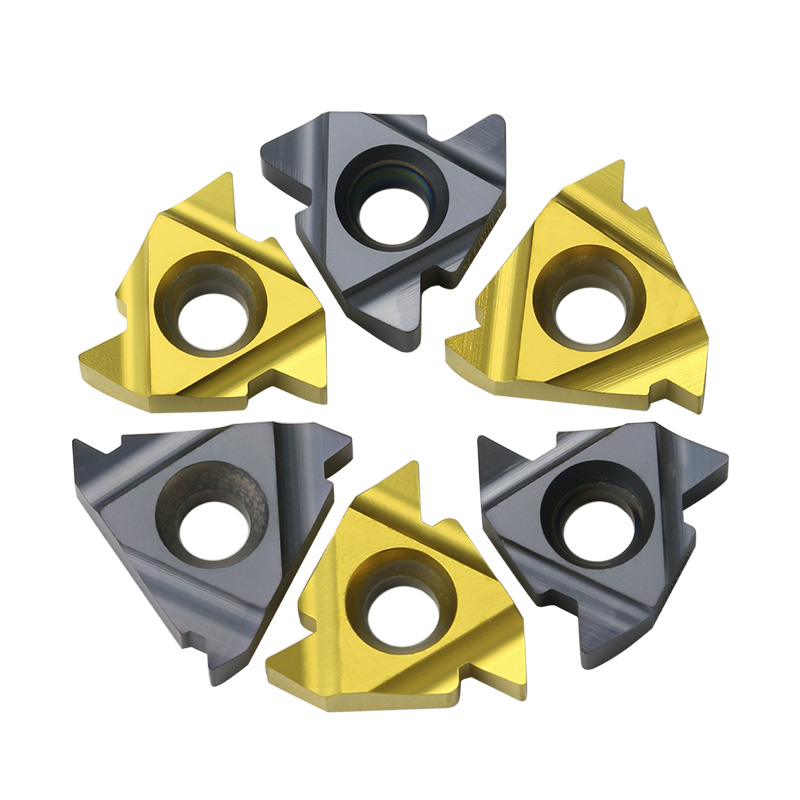 10pcs external thread blade 22ER 4.0iso N55 N60hard alloy blade is suitable for machining steel parts in SER tool bar CNC lathe