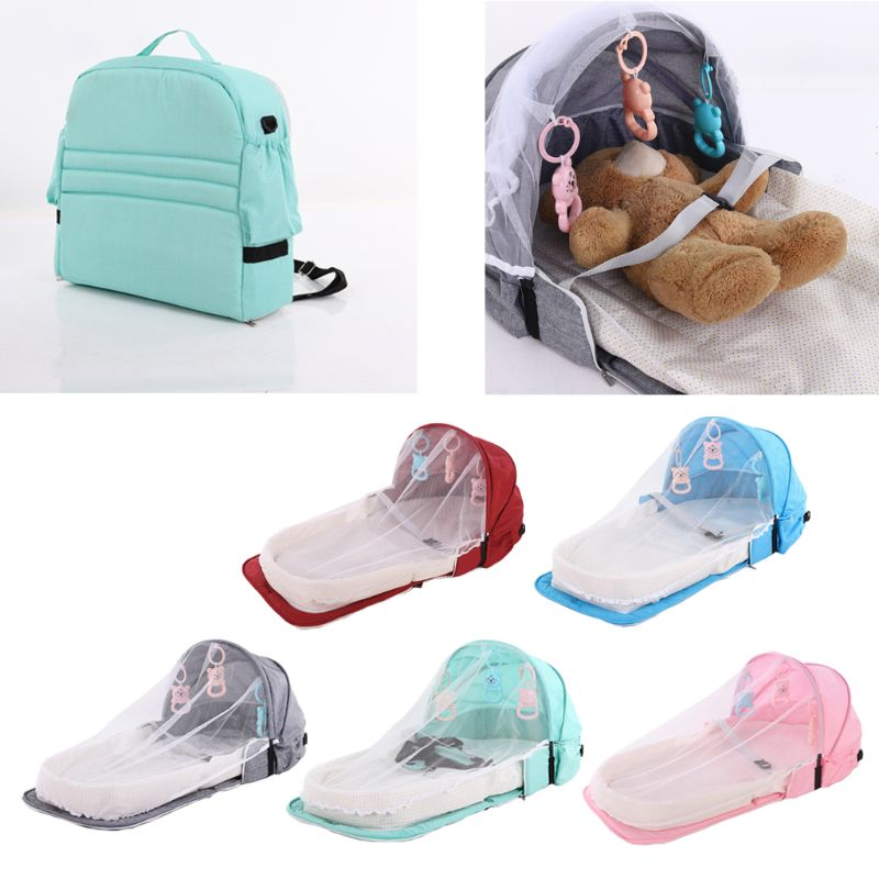 Baby Bed Travel Sun Protection Mosquito Net Foldable Infant Sleeping Basket U50F