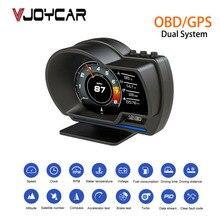 Vjoycar V60 Dual System Head Up Display OBD2 HUD GPS Digital Speedometer X1 OBD2 Meter Gauge  Oil / Coolant Temp. Turbo Boost