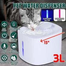 3L Haustier Hund Katze Wasser Brunnen Elektrische Automatische Wasser Feeder Dispenser Container LED Wasser Ebene Display Für Hunde Katzen Trinken