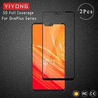 YIYONG 9D de la cubierta completa Oneplus 3 T 5T 6T de vidrio templado uno más 5 6 3 3 5T 6T 7 T 8 T Protector de pantalla para Oneplus 6 5 3 T uno más de vidrio