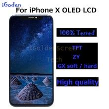 Yüksek kaliteli OLED değiştirme iPhone X LCD ekran dokunmatik ekran Digitizer meclisi ile iphone X LCD ekran için