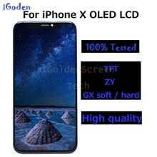 高品質有機 el の交換 iphone × 液晶ディスプレイとタッチスクリーンデジタイザアセンブリのための 1 × lcd スクリーン