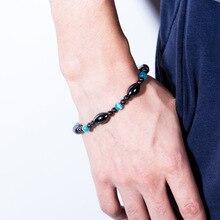 Cat Eye Black Gallstone Mens Bracelet Gift Friendship Unisex Casual Sports Men