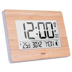 Cyfrowa ściana zegar Lcd duży duży numer czas kalendarz z termometrem stół alarmowy zegary biurkowe nowoczesny Design dekoracje do domowego biura