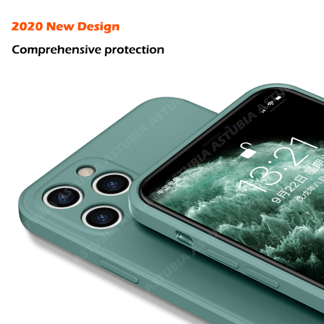 Luxury Liquid Silicone Case For iPhone 11 Pro Max 12 Protector Case For iPhone XS MAX XR X 7 8 6S PLUS SE2 2020 Cover With Strap 2