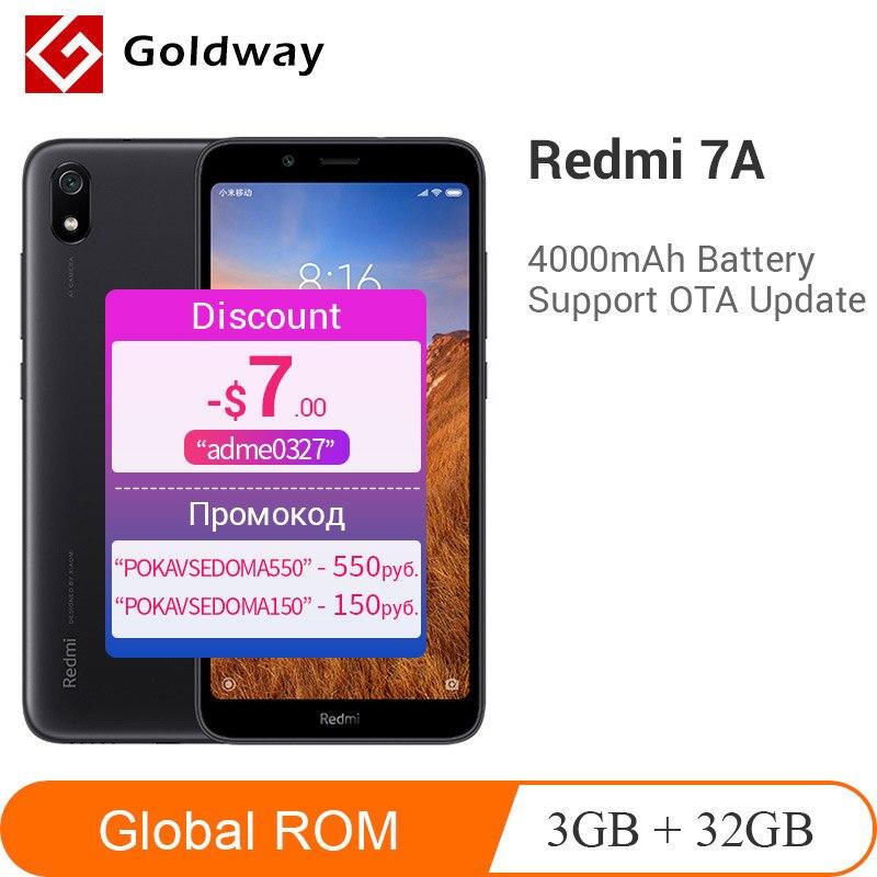 """Cep telefonları ve Telekomünikasyon Ürünleri'ten Cep Telefonları'de Küresel Rom Xiaomi Redmi 7A 7 A 3GB 32GB Smartphone Snapdargon 439 4000mAh pil 5.45 """"13MP arka kamera cep telefonu çin versiyonu title="""