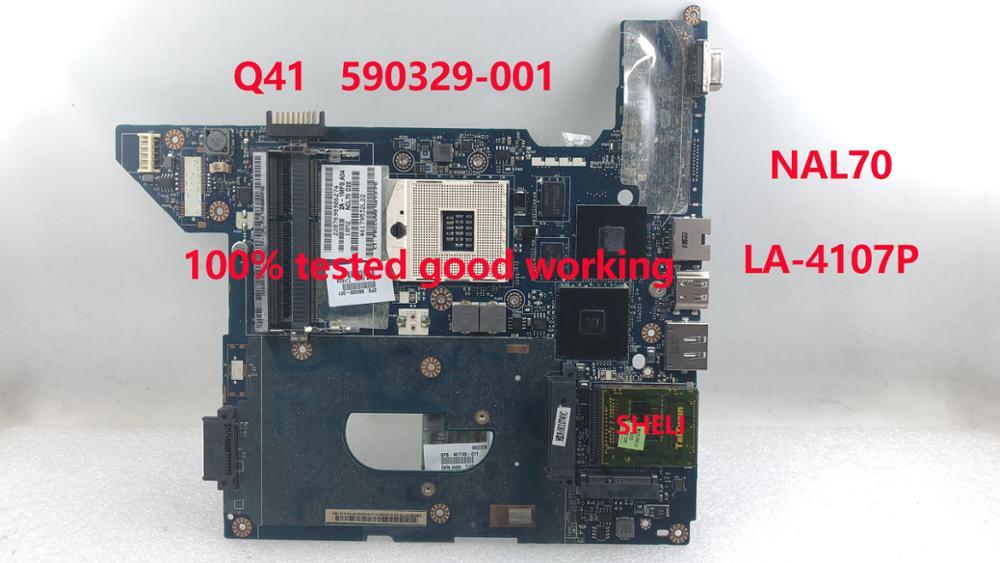 SHELI HP CQ41 Laptop anakart 590329 001 için HM55 NAL70 LA 4107P anakart 100% ddr3 iyi çalışıyor test Dizüstü Bilgisayar Tamir Bileşenleri Bilgisayar ve Ofis - title=
