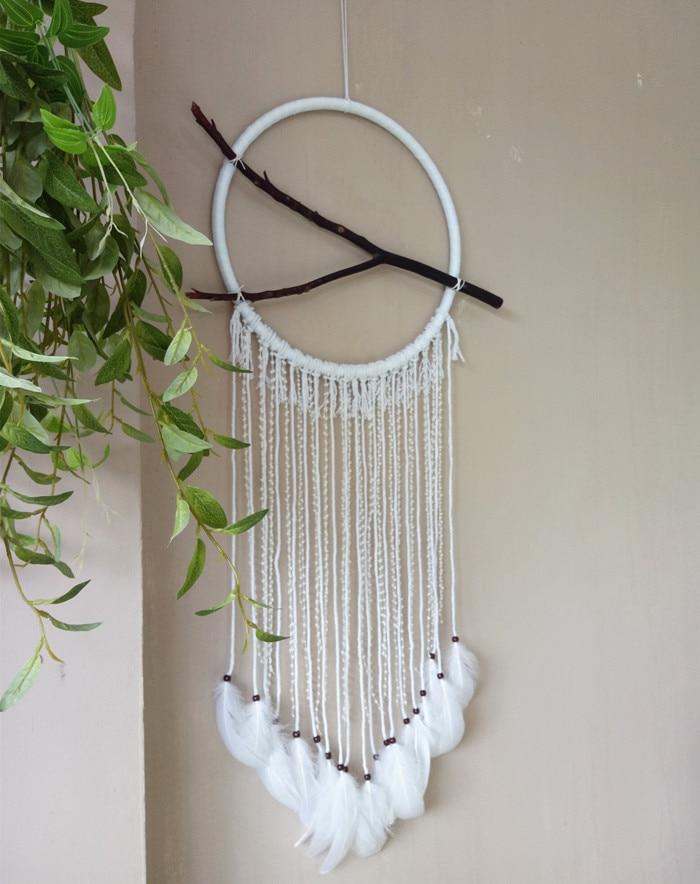 Один кусок ручной работы Ловец снов перо настенные украшения Свадебные украшения диаметр 40 см - 2