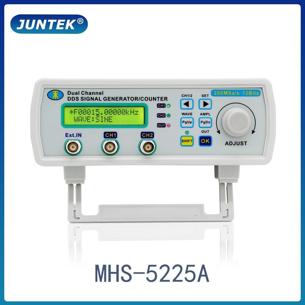 Juntek mhs5200a 25 mhz gerador de sinal digital de canal duplo dds função gerador de frequência forma de onda arbitrária/pulso