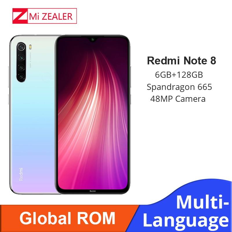 Global ROM Xiaomi Redmi Note 8 6GB RAM 128GB ROM Octa Core Smartphone Snapdragon 665 48MP 6.3