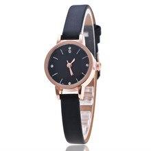 Новинка, розовое золото, минималистичные Модные женские кварцевые часы с кожаным ремешком, роскошные повседневные часы, женские наручные часы, Relogio Feminino, подарок