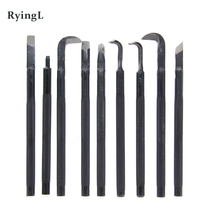 Bonsai Werkzeuge Schmieden Carving Messer Pick Messer Zeichnung Messer Carving Messer Anti slip Griff Draht Carving Werkzeuge