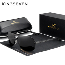 KINGSEVEN 2020 BRAND DESIGN New Polarized Rimless Sunglasses Men Women Driving Pilot Frame Sun Glasses Male Goggle UV400