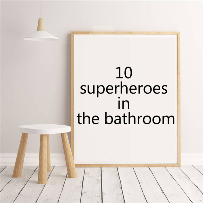 SuperHero Move Wall Art Spiderman Batman Captain America Hulk canvas painting wall pictures for living room decoration Unframed image