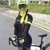 2019 macaco macacão feminino triathlon ciclismo terno profissional bicicleta corrida verão terno 9d almofada de condensação manga longa 9