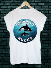Seaworld suga orca golfinho baleia 90s grunge skate tumblr unisex tshirt s m l xl t camisa