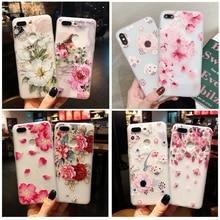 3D alivio funda de teléfono floral para Samsung GALAXY A10 A20 A30 A40 A50 A60 A70 A80 A90 M 10 20 30 40 A40S S8 S9Plus caso iPhone cubierta