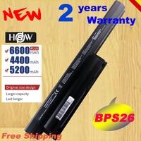 HSW 5200MAH Laptop Battery For Sony VAIO CA CB EG EH EJ EL VPCCA BPS26 VPCCB VPCEG VPCEH VPCEJ VPCEL VGP BPL26 VG fast shipping