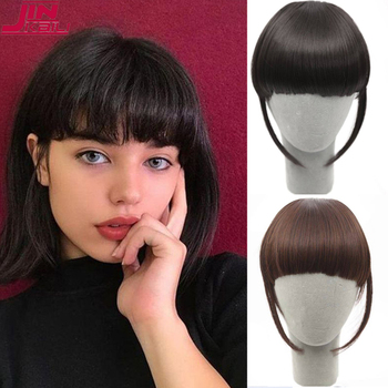 JINKAILI Neat Front Fringe High Temperature Synthetic Wig Bangs Natural Soft Wig Women Hair Extension Without Traces Bangs karmic traces