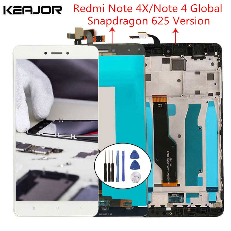 For Xiaomi <font><b>Redmi</b></font> <font><b>Note</b></font> 4X LCD <font><b>Screen</b></font> <font><b>Redmi</b></font> <font><b>Note</b></font> <font><b>4</b></font> Display <font><b>Screen</b></font> <font><b>with</b></font> <font><b>Frame</b></font> for <font><b>Redmi</b></font> <font><b>Note</b></font> <font><b>4</b></font> Global Version 5.5'' Snapdragon 625 image