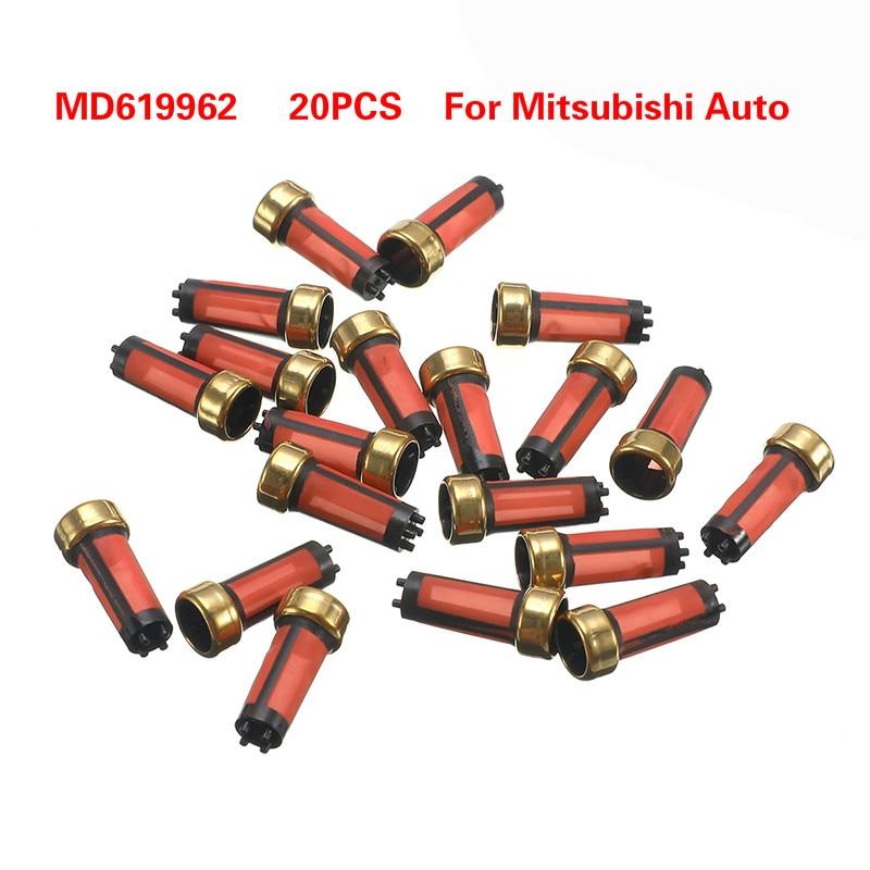 20 шт./партия Высокое качество авто бензин инжектор топлива микро фильтр OEM MD619962 14*6*3 мм автомобиль Sapre запчасти