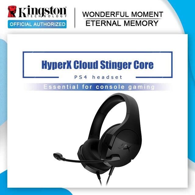 Kingston HyperX Cloud Stingerชุดหูฟังสำหรับเล่นเกมพร้อมไมโครโฟนหูฟังน้ำหนักเบาสำหรับPS4 เกมเครื่อง