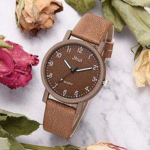 Image 2 - למעלה מותג נשים שעונים אופנה עור שעון יד נשים שעונים גבירותיי שעון שעון מתנה zegarek damski Relojes Mujer 2019