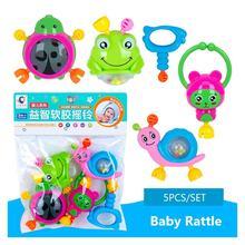 5 шт/компл детские погремушки игрушки от 0 до 12 месяцев животный