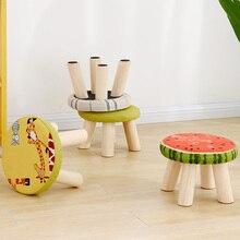 Табурет круглый табурет твердая дерево мода квадрат табурет ткань диван табурет стул бытовой кофе стол табурет