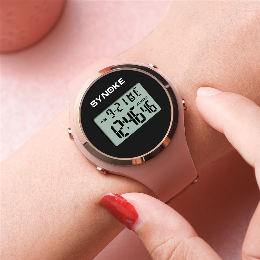 SYNOKE reloj digital ni% C3% B1os Student Sports Watches Digital Watch 50m Waterproof Watch Chronograph LED montre garcon enfant +% 23N03