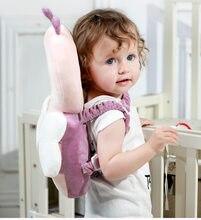 Grande almofada de proteção de cabeça do bebê da criança encosto de cabeça travesseiro pescoço bonito asas enfermagem gota resistência coxim