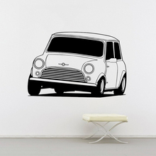 Classic Transport Car Wall Sticker Mural PVC Modern Design Mini Cooper  Bedroom Sofa Vinyl Decor Decal W706