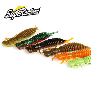 2019 NEW Larva Soft Lures 50mm 62mm 85mm Fishing Artificial Lures Silicone Bass Pike Minnow Swimbait Jigging Plastic Baits Worm