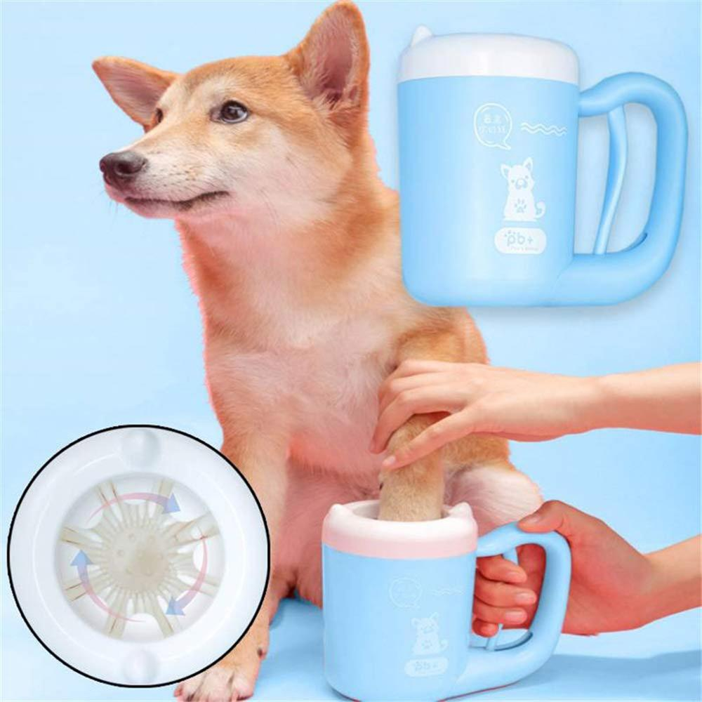 Pet Cat Pet Dog Dirty Paw Clean Cup Cleaning Tool Silicone Washing Brush Washer Supplies Automatic Cleaning Cup Grooming