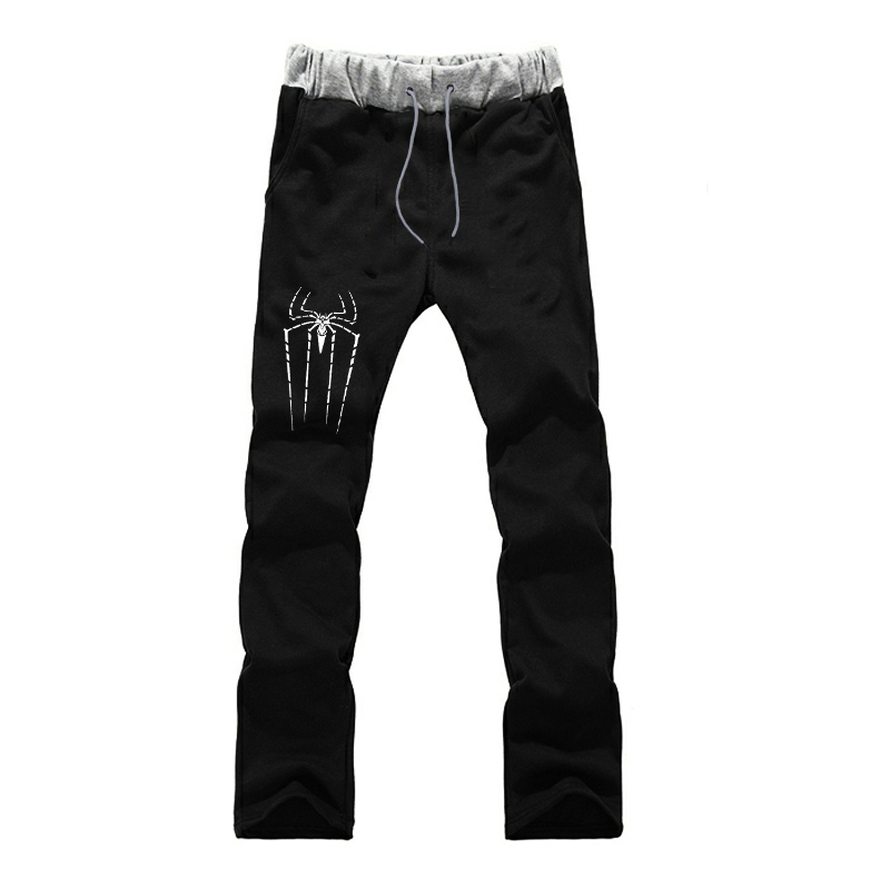 Fashion Spider-Man Prints Sports Pants Men Jogger Fitness Full Length Trousers Autumn Casual Winter Male Sweatpants For Teenager