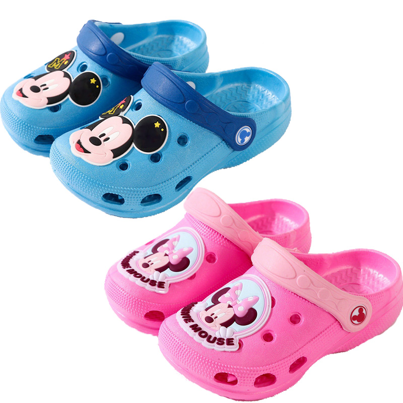2019 Summer Kids Slippers For Boys Hole Shoes Mickey Minnie Baby Girls Anti-slip Beach Slippers Water Shoes Children's Sandals