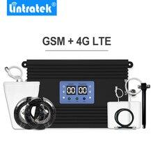 Lintratek amplificador de señal de teléfono móvil, conjunto de amplificador de cobertura grande de 80dB, 2G, 4G, LTE, 900mhz, 1800mhz, GSM, DCS
