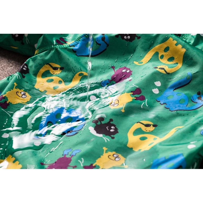 Children Autumn Winter Outerwear Clothing Boys Dinosaur Hooded Rainsuit Rain Jacket Baby Kids Sports Outing Coats Infant Wearing 5