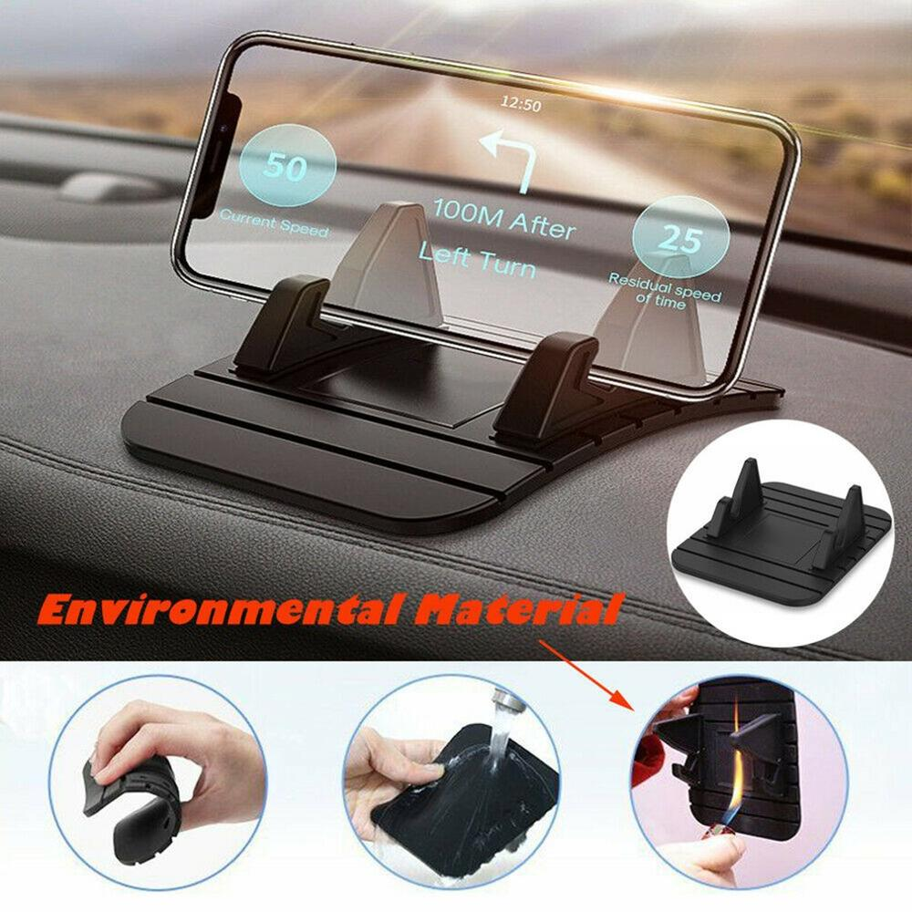 Car Phone Holder Non-Slip Rubber Mat For IPhone Samsung Xiaomi Smartphone Stand Holder GPS Navigation Bracket