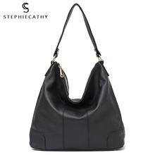 SC Large Designer Genuine Leather Women Shoulder Bags Ladies Cow Leather Hobo Bag High Quality Female Cowhide Casual Handbags