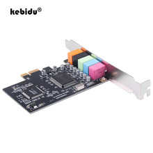 Kebidu pci placa de som 5.1ch 5.1 canais cmi8738 chipset interface de áudio pci-e 5.1 estéreo placa digital desktop soundcard