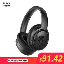 Cowin se7 anc cancelamento de ruído ativo fones de ouvido bluetooth fone de ouvido sem fio com microfone apt x para telefones nível 30db