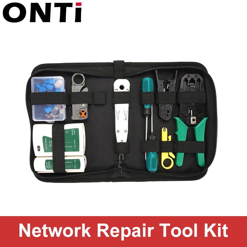 14pcs/set RJ45 RJ11 RJ12 CAT5 CAT5e Portable LAN Network Repair Tool Kit Utp Cable Tester AND Plier Crimp Crimper Plug Clamp PC