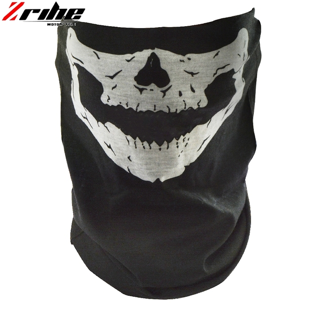 new style motorcycle skull ghost face windproof mask outdoor sports warm ski caps bicycle bike balaclavas scarf skull face mask 2
