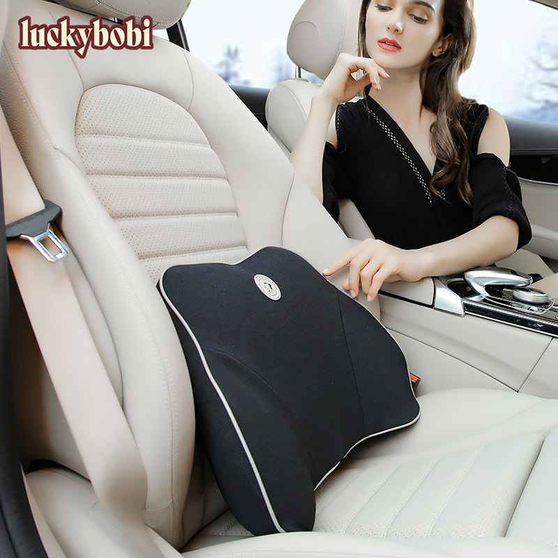 Car Cushion Seat Lumbar Support Office Chair Low Back Pillow Waist Protection Memory Foam Black Car Product Posture Correction