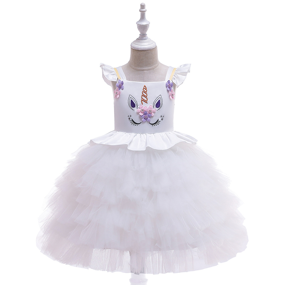 INS 2019 Girls Hot Selling Europe And America Flower Boys/Flower Girls Wedding Dress Christmas CHILDREN'S Dress Princess Dress