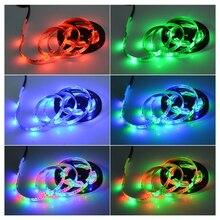 5V USB 2835 LED RGB полоса лампа RGB книга свет лампа телевизор фон декор освещение лента стол декор лента шнурки 1M 2M 3M 4M 5M