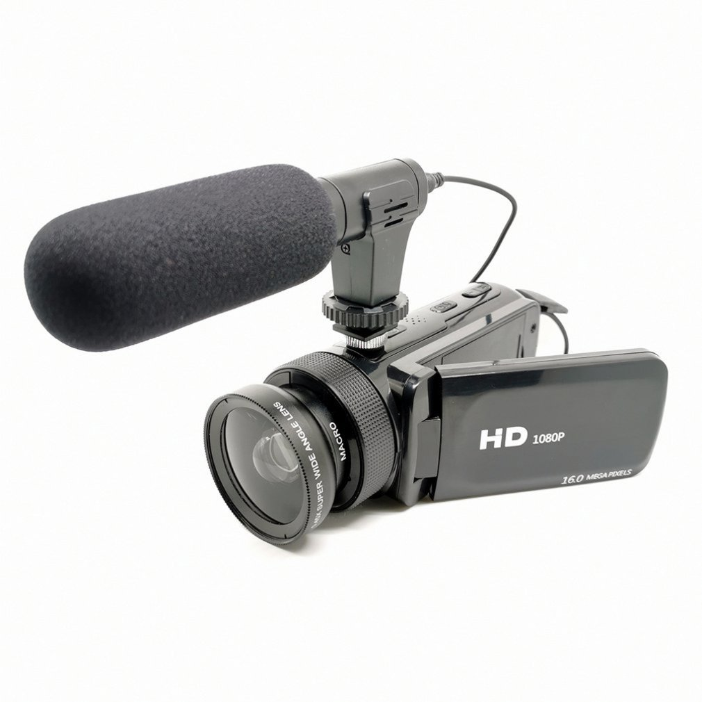 Bright High Definition Digital Video Camera With Microphone Wide-angle Lens Home Durable Digital Video Camera