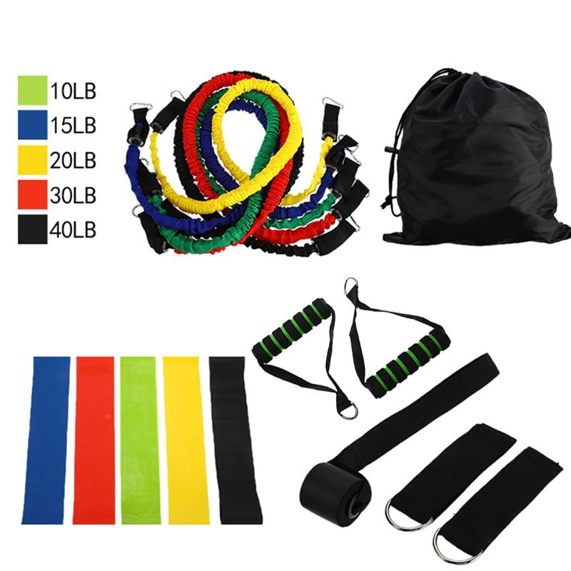 Fitness Resistance Bands Set Yoga Exercise Rubber Tubes Band Stretch Workout Expander Pull Rope Home Gym Fitness Equipment